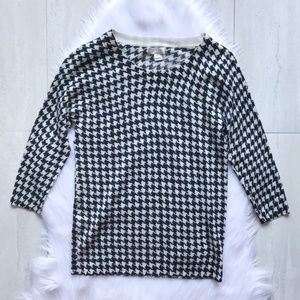 J. Crew Factory Charley Sweater in Houndstooth